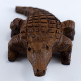 Alligator Hand Carved Ironwood Wood Figurine 2