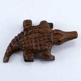 Alligator Hand Carved Ironwood Wood Figurine 4