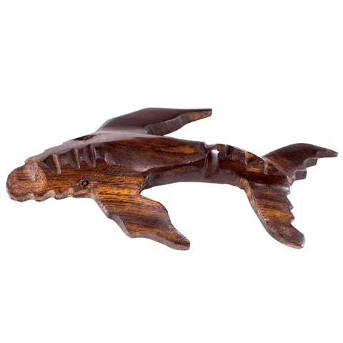 Humpback Whale Hand Carved Ironwood Wood Figurine