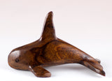 Orca Whale Hand Carved Ironwood Wood Figurine 2