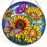 Daisies and Butterflies Suncatcher Glass By AMIA 2