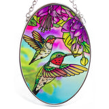 Hummingbird and Fuchsia Suncatcher Glass By AMIA 2