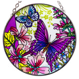 Butterflies and Wildflowers Suncatcher Glass By AMIA