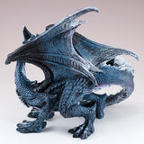 "Blue and Black Dragon Standing Figurine Statue 7""H"