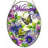 Naturally Inviting Welcome Butterfly Suncatcher Glass By AMIA