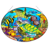 Tropical Fish and Sea Turtles Suncatcher Glass AMIA