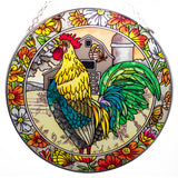 Emerald Rooster Glass Suncatcher By AMIA