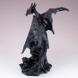 Black Dragon On Castle Figurine Statue 4