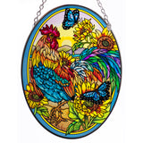 Morning Has Broken Rooster Glass Suncatcher By AMIA
