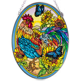 Morning Has Broken Rooster Glass Suncatcher By AMIA 2