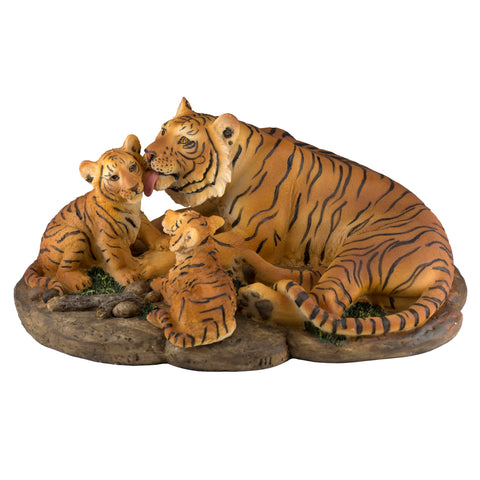 Yellow Bengal Tiger Family Figurine 1