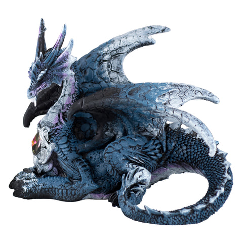 Blue and White Dragon Laying Figurine 1
