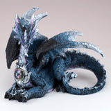 Blue and White Dragon Laying Figurine 2