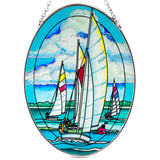 Starboard Tack Sailboats Suncatcher Glass By AMIA 2
