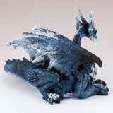 Blue and White Dragon Laying Figurine 3