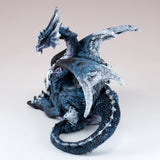 Blue and White Dragon Laying Figurine 4