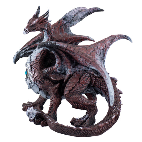 Red Dragon Standing Figurine Statue 5