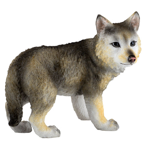 Wolf Cub Pup Standing Figurine 1