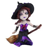 Hocus Pocus Cosplay Kids Witch On Broom Figurine 1