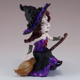 Hocus Pocus Cosplay Kids Witch On Broom Figurine 3
