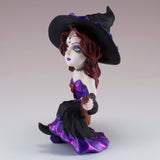 Hocus Pocus Cosplay Kids Witch On Broom Figurine 6