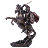 Alexander The Great With Horse Figurine Cold Cast Bronze Statue 1