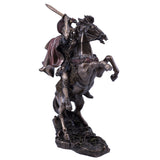 Alexander The Great With Horse Figurine Cold Cast Bronze Statue 3