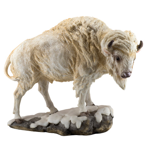 White Bison Buffalo Bull Figurine 1