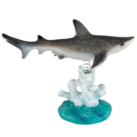 Bobble Shark On Spring Figurine