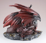 Red Dragon Mother and Baby Figurine 4