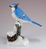 Blue Jay On Snowy Branch Bird Figurine 3
