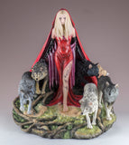 Red Caped Lady With Pack of Wolves Figurine Statue 2