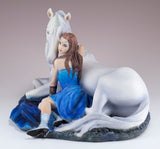 Blue Moon by Anne Stokes Girl With Unicorn Figurine 3