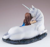 Blue Moon by Anne Stokes Girl With Unicorn Figurine 4