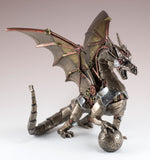 Steampunk Dragon With Sphere Figurine Statue 2