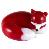 Red Sleeping Fox Miniature Hand Blown Glass Figurine 1