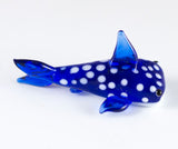 Miniature Dark Blue Spotted Shark Hand Blown Glass Figurine 3