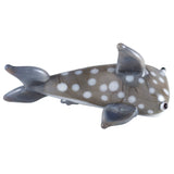 Miniature Gray Spotted Shark Hand Blown Glass Figurine