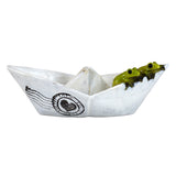 Mini Frogs In Paper Boat Figurine 1