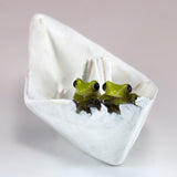 Mini Frogs In Paper Boat Figurine 2
