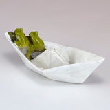Mini Frogs In Paper Boat Figurine 3