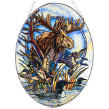 Moose Loon Duck Geese Suncatcher Glass By AMIA