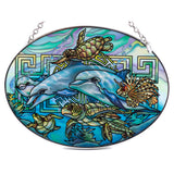 Dolphins and Sea Turtles Suncatcher Glass By AMIA