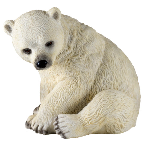 Polar Bear Cub Sitting Figurine 1