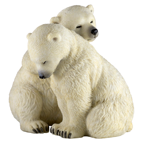Two Sleepy Polar Bear Cubs Figurine 1