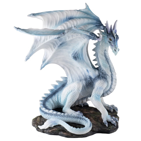 Elder Draconis White Dragon Figurine 1