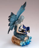 Blue Water Fairy With Dragon Figurine
