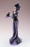 Purple Witch With Raven Crow Figurine Statue