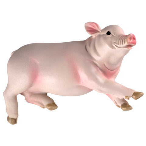 Pink Pig Laying Down Figurine
