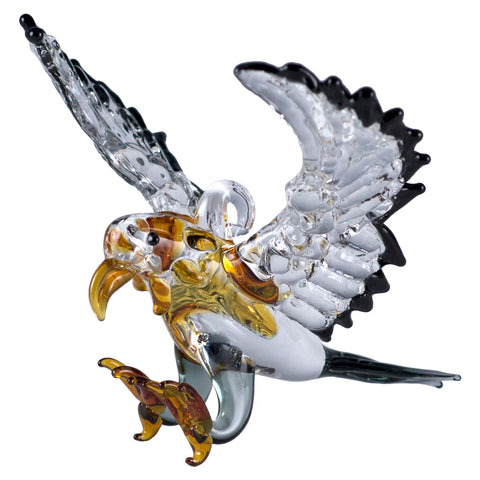 Eagle Miniature Hand Blown Borosilicate Glass Figurine